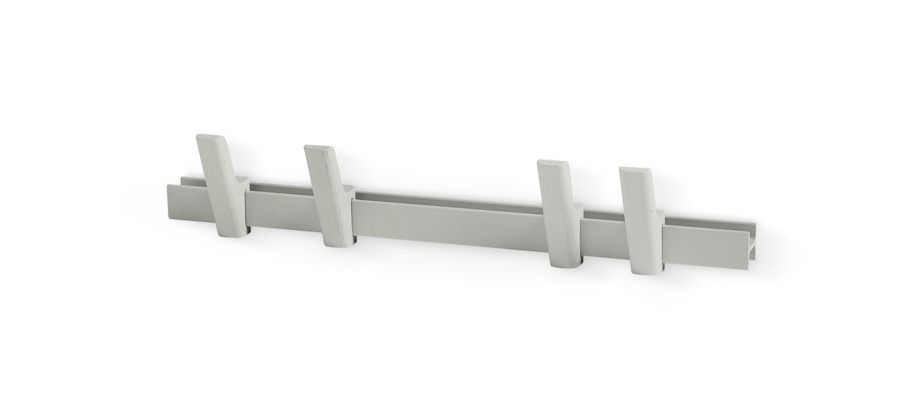 HAY Beam Klädhängare Ljusgrå ask/Aluminium