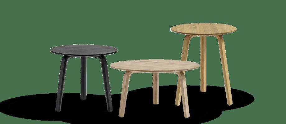 HAY Bella soffbord i svartbetsad, mattlackad och oljad ek