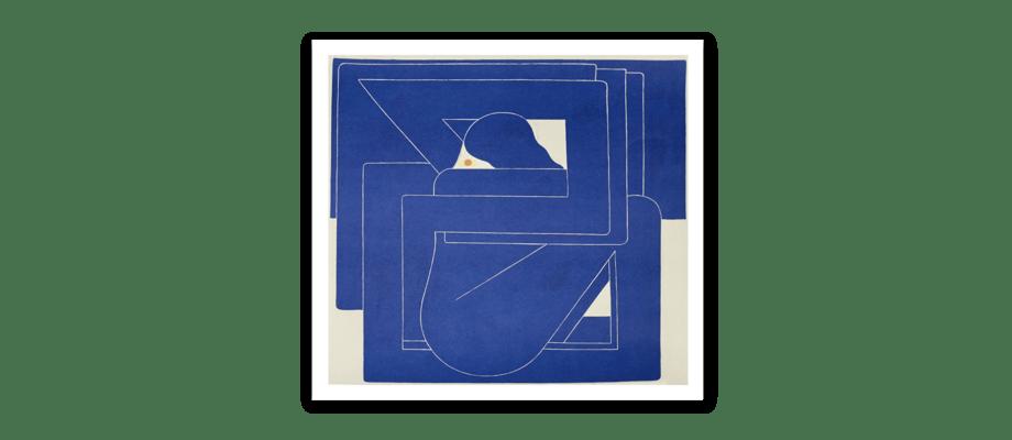 HAY CHART Blue Square Poster av Richard Colman