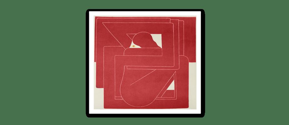 HAY CHART Red Square Poster av Richard Colman