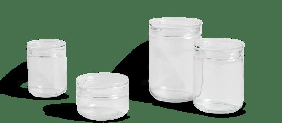 HAY Kitchen Market Japanese Glass Jar Glasburk small, medium, large och extra large