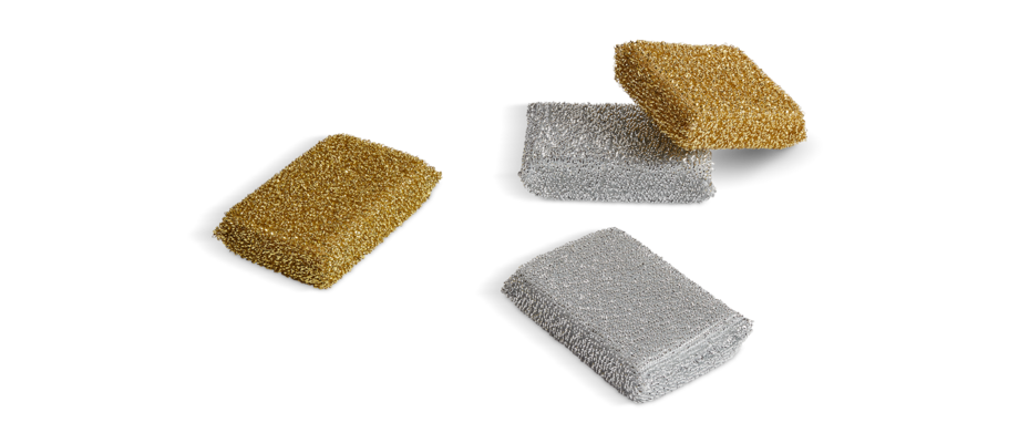 HAY Kitchen Market Lurex Sponge Disksvamp i guld och silver