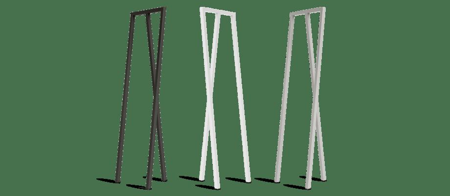 HAY Loop Stand Hall Klädhängare i svart, vit och grå färg