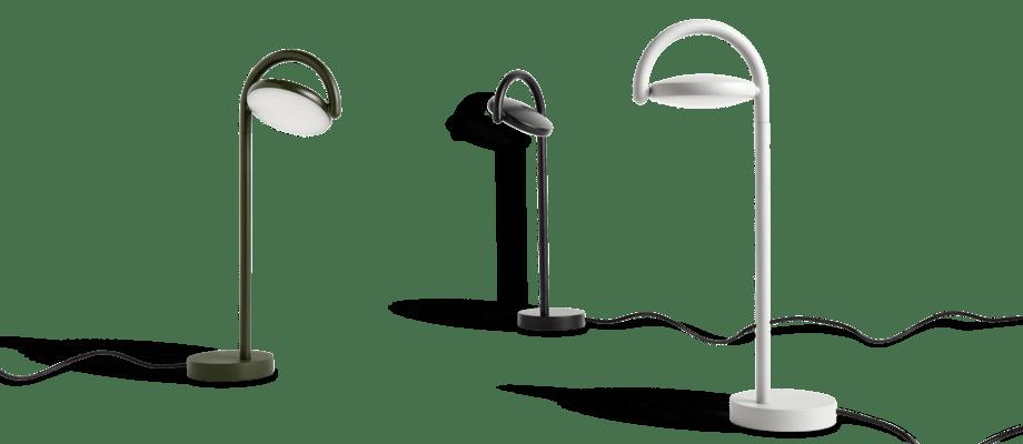 HAY Marselis Bordslampa i grön, svart och ljusgrå färg