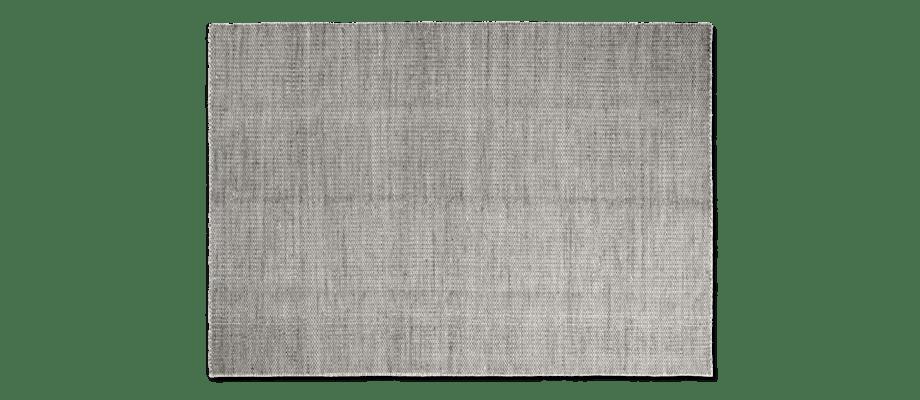 HAY Moiré Kelimmatta i grå färg med vit bas