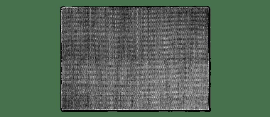 HAY Moiré Kelimmatta i svart färg över vit bas