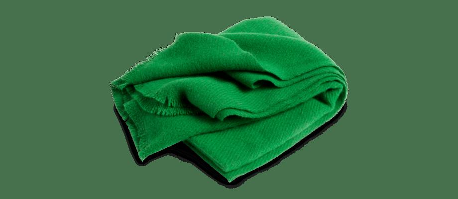 HAY Mono Blanket Grass Green Filt i grön färg