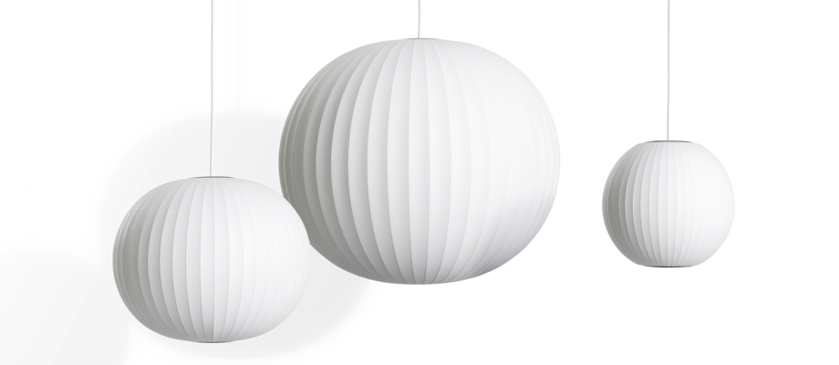HAY Nelson Bubble Ball Pendant Pendel i off-white