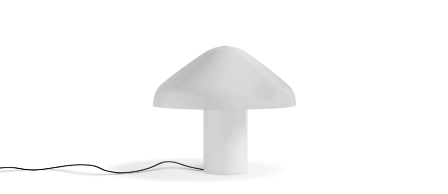 HAY Pao Glass Table Lamp Bordslampa i vitt opalglas av Naoto Fukasawa