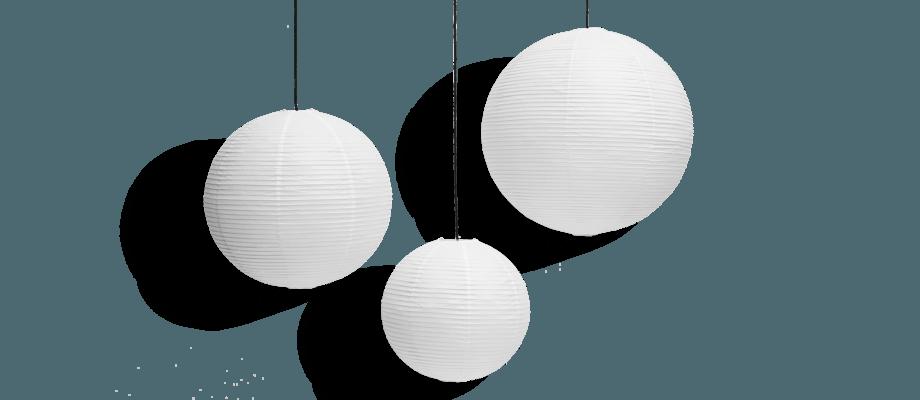 HAY Rice Paper Shade Lampskärm i 50, 60 och 80 centimeters diameter