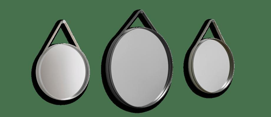 HAY Strap Mirror Spegel i grey, anthracite och army i två storlekar