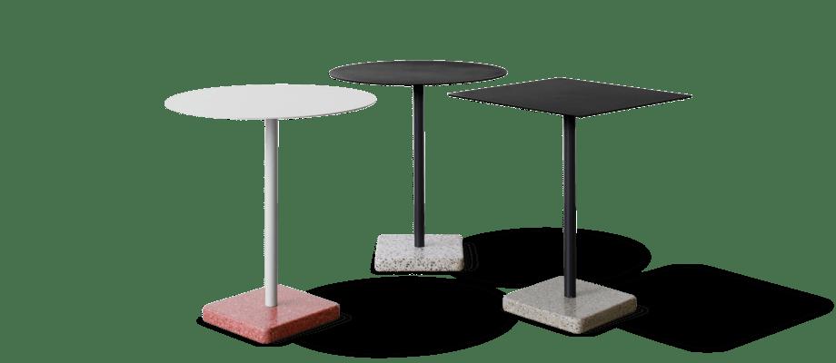 Bordet Terrazzo Table från HAY finns med både rund och fyrkantig bordsskiva