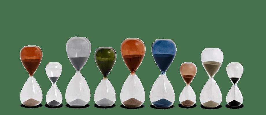 HAY Time Timglas i alla färger i storlekarna small, medium och large