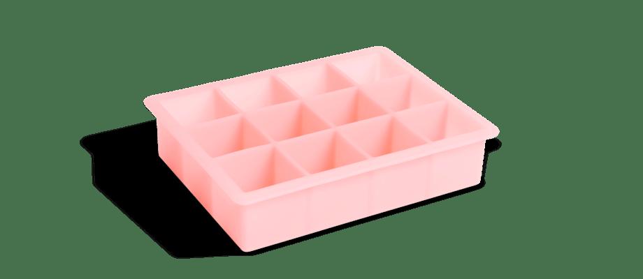 HAY Ice Cube Tray Isform för stora isbitar i rosa silikon