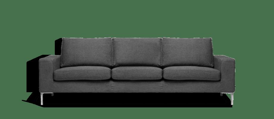 Ire Möbel Infini Grande 3-sitssoffa i mörkgrått tyg