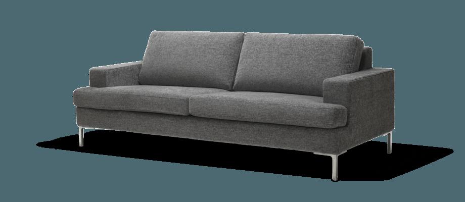 Ire Möbel Infini 2-sitssoffa i mörkgrått tyg