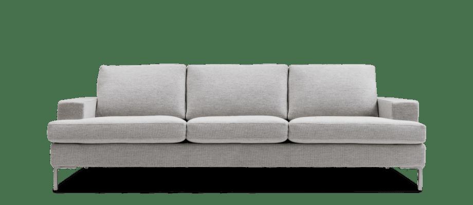 Ire Möbel Infini 3-sitssoffa i ett ljusgrått tyg