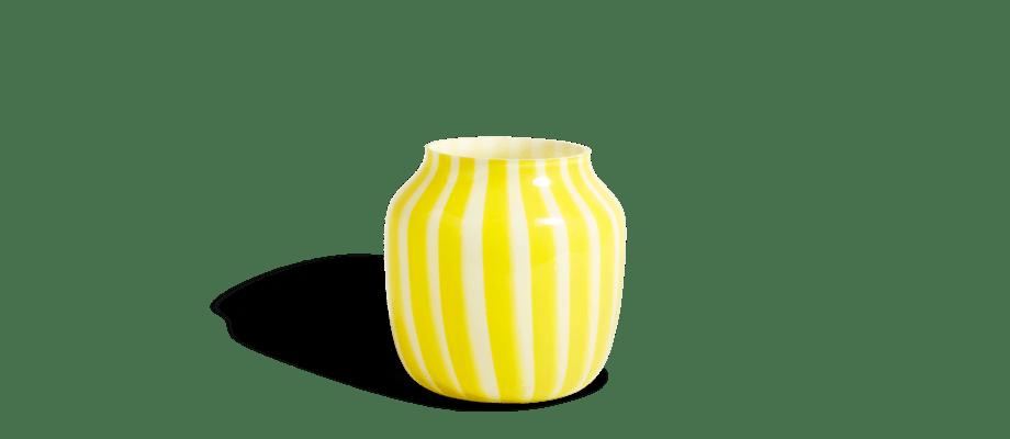 HAY Juice Vase Yellow Vas med gula ränder