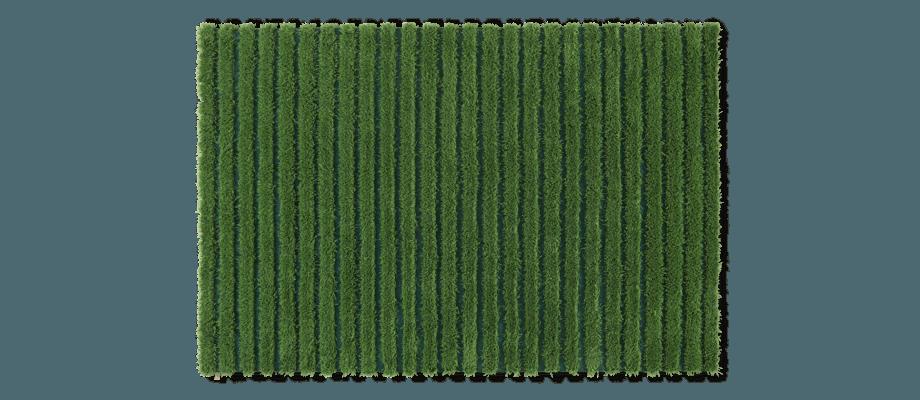 Kasthall Ines Matta i den gröna färgen Jungle 330