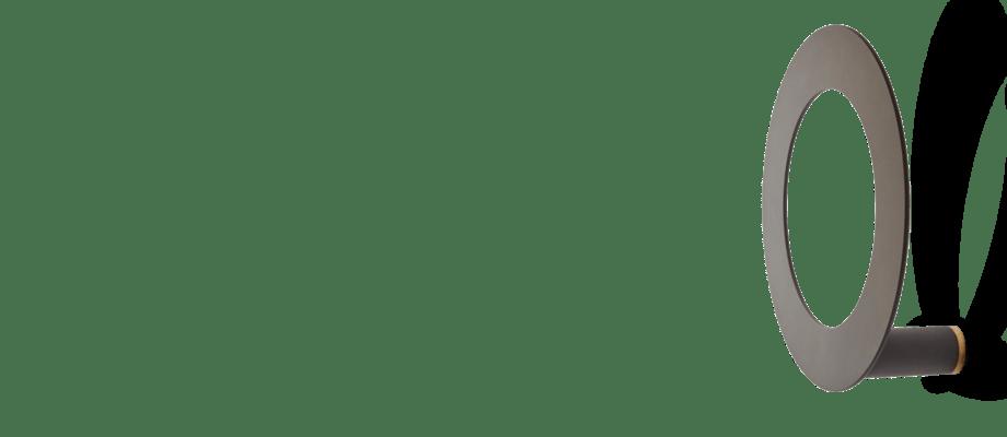 Klong Monokel Klädkrok med detalj i mässing