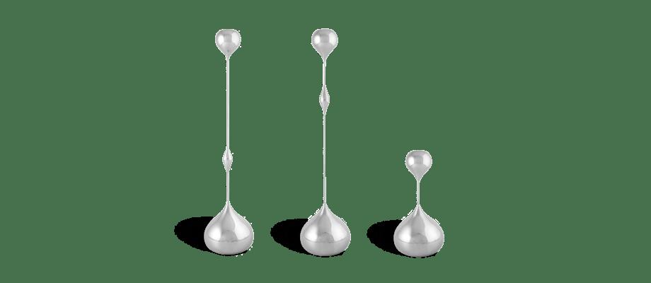 Klond Tender Ljusstake silver