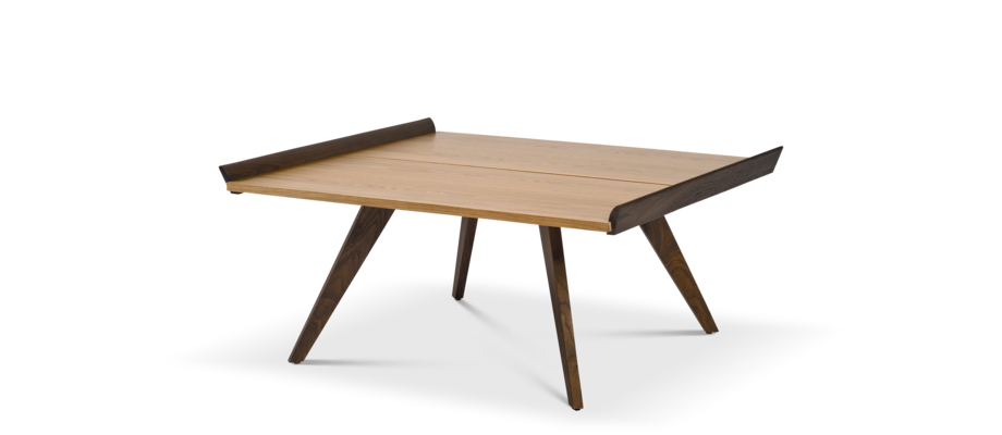 Knoll Splay-Leg Table Soffbord i amerikansk valnöt och hickory