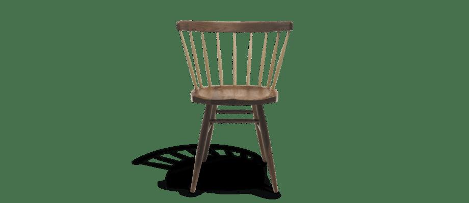 Knoll Straight Chair Pinnstol i amerikansk valnöt och hickory