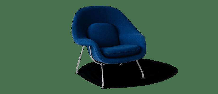 Knoll Womb Chair Medium Fåtölj med kuddar i tyget Tonus 4 132