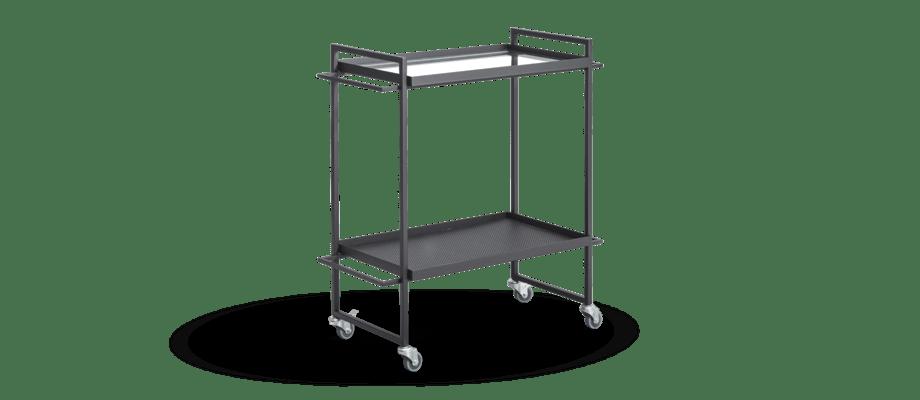 Kristina Dam Studio Bauhaus Trolley Serveringsvagn i svart pulverlackerat stål