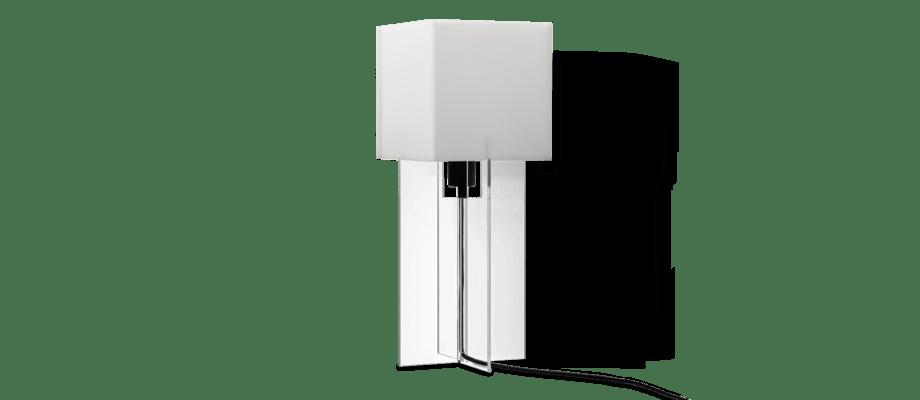 Lightyears Cross-Plex T-500 Bordslampa i vitt opalglas och klar akryl