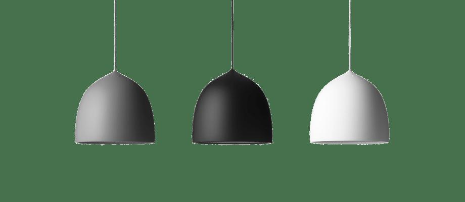 Lightyears Suspence P2 Pendant i ljusgrå, svart och vit med matt finish