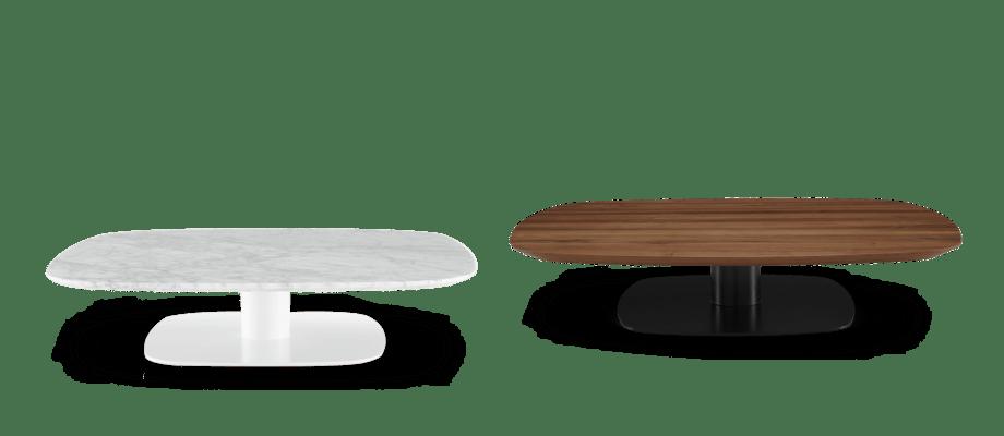 Ligne Roset Alster soffbord i vit marmor eller valnöt