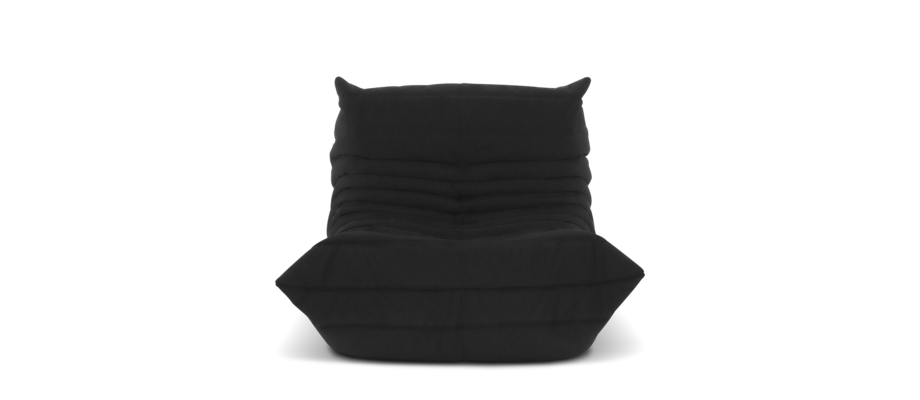 Ligne Roset Togo Fireside Chair Fåtölj i grått tyg