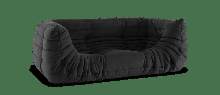 Ligne Roset Togo Medium Settee Soffa i grått tyg