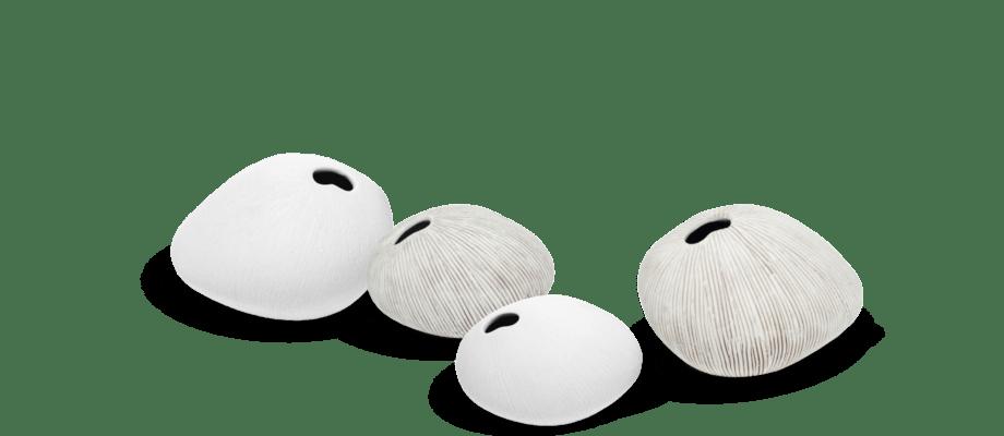 Lindform Pebble Vas Small och Medium i vit och grå färg