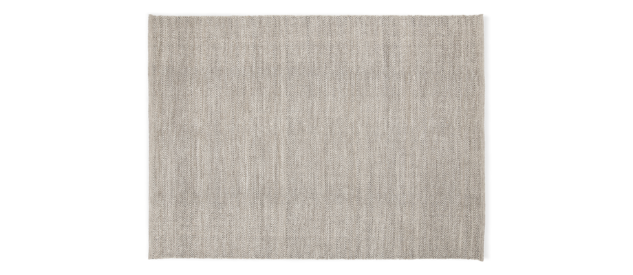 Linie Design Lia Anthracite Handvävd matta i ull