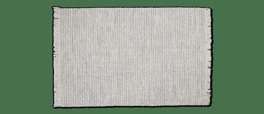 Linie Design Limpo fransad matta i ull i grå toner