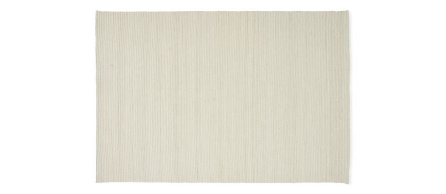 Linie Design Livello White Handvävd ullmatta i vit färg