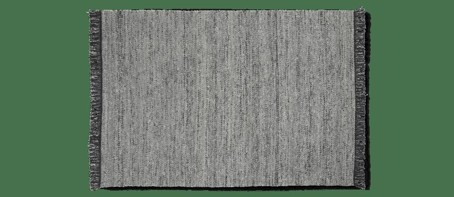 Linie Design Molteno Stone Ull- och viskosmatta med fransar i mörka toner