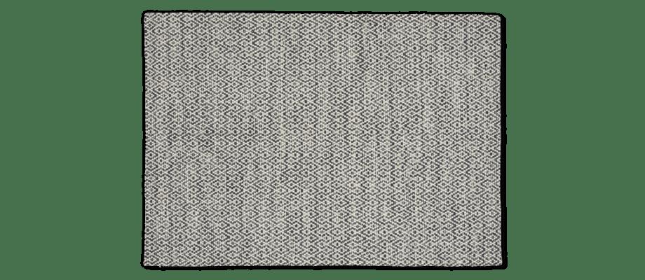 Linie Design Labyrinthe Dark Blue Matta i ull med mörkblått mönster