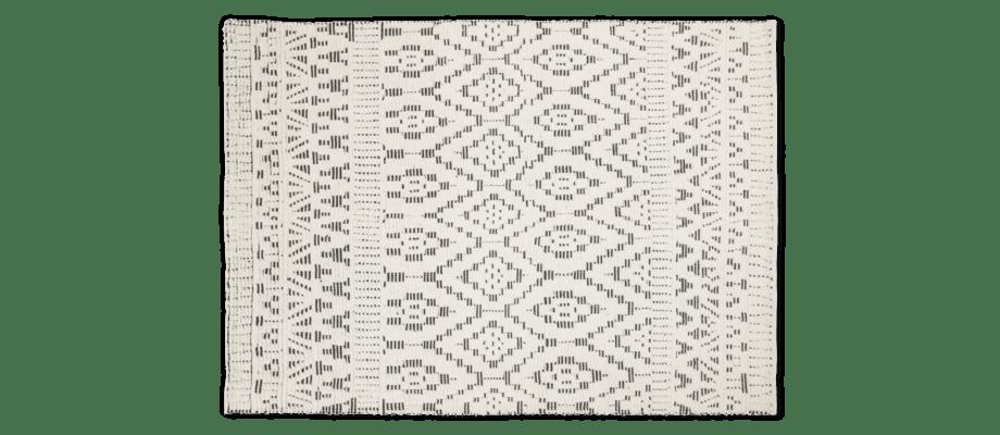 Linie Designs handknutna ullmatta Zelbio i vit och svart färg