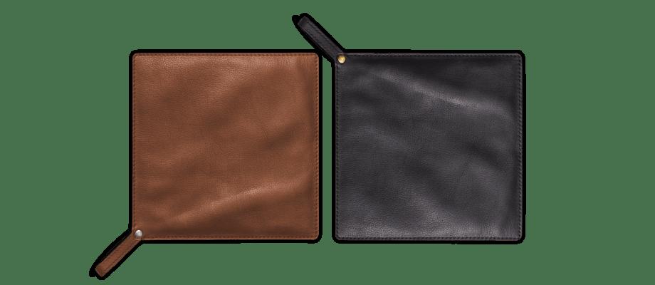 Linum Fuego Pot Holder Grytlappar i brunt och svart läder