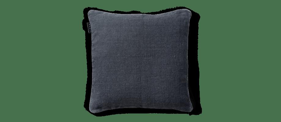 Linum Raw Dark Charcoal Grey G21 Kuddfodral 50x50 cm