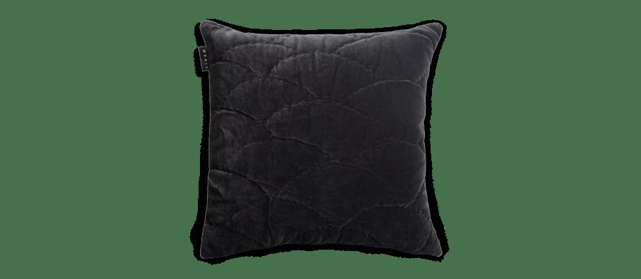 Linum Siena Kuddfodral Dark Charcoal Grey 50x50 cm
