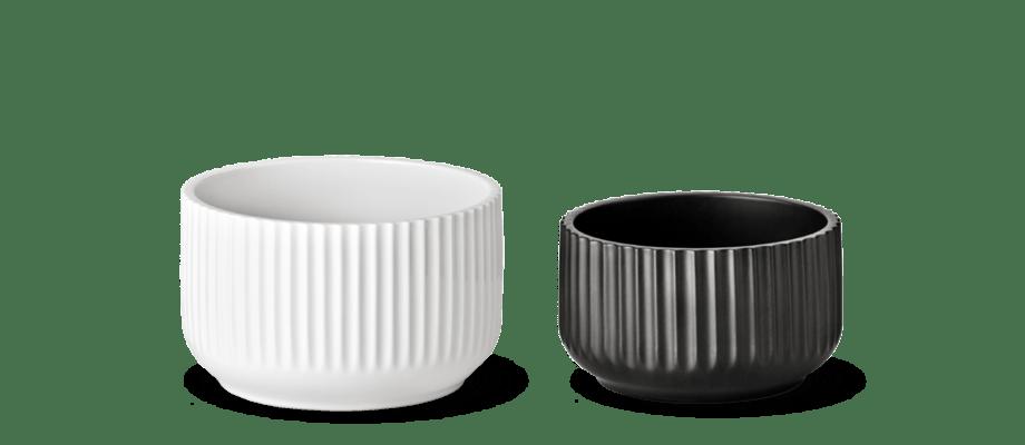 Lyngby Skålen i vit eller svart färg