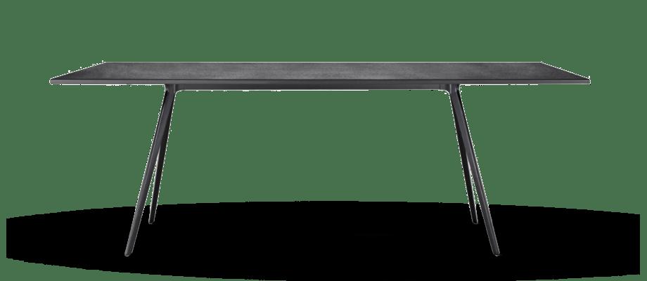 Bordet Baguette från italienska Magis finns i svart MDF eller skiffer på Olsson & Gerthel