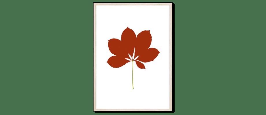 Magis Leaves Chestnut Print med ram i ask