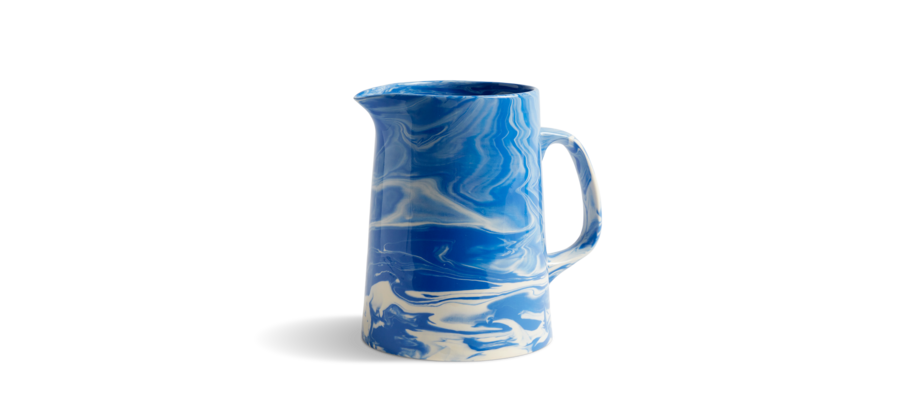 HAY Marbled Jug Kanna i blå färg