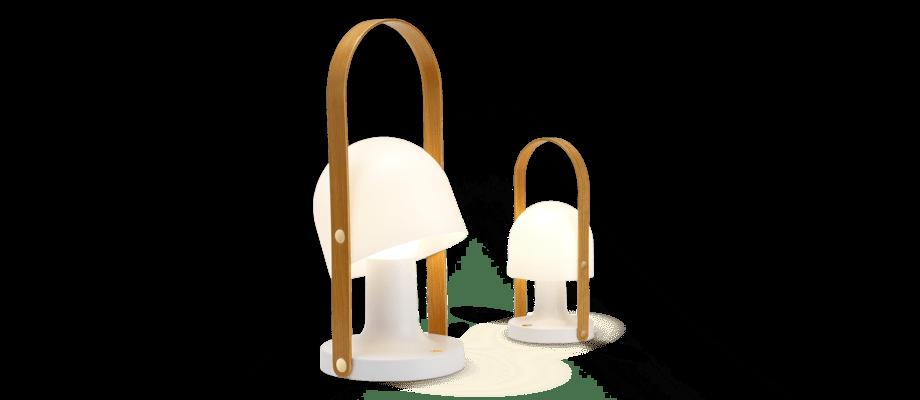 Marset Follow Me Bärbar bordslampa med batteri och inbyggd LED-ljuskälla