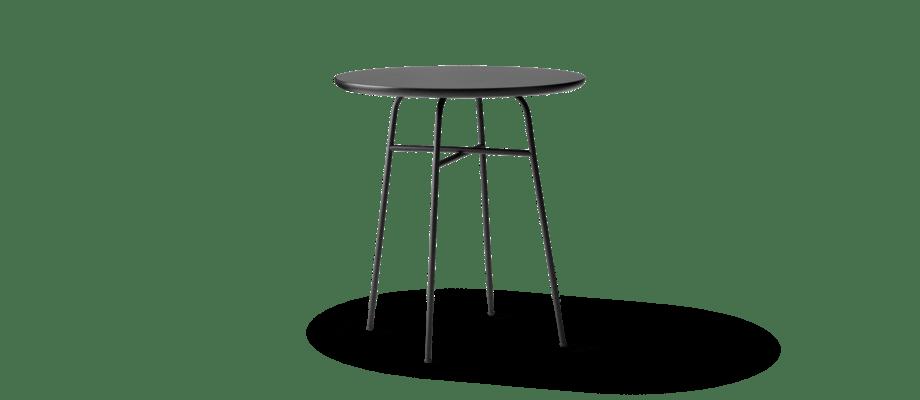 Menu Afteroom Café Table Cafébord i svart laminat och stål